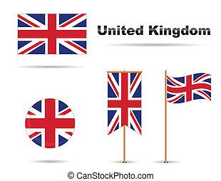 koninkrijk, verenigd, vlaggen