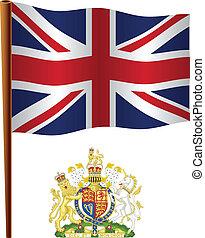 koninkrijk, vlag, golvend, verenigd