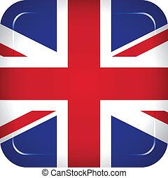 koninkrijk, vlag, vector, verenigd