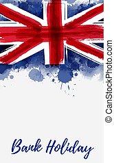 koninkrijk, vlag, verenigd, achtergrond