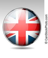 koninkrijk, vlag, verenigd, knoop