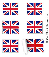 koninkrijk, vlag, verenigd, set