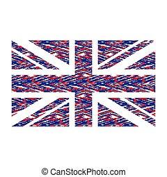 koninkrijk, vlag, verenigd
