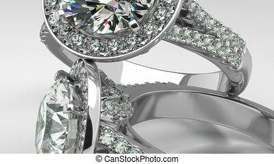 kostbaar, diamant, ringen