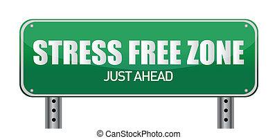kosteloos, stress, zone, zelfs, vooruit