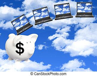 kosten, wolk, gegevensverwerking