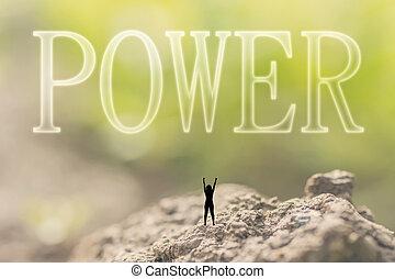 kracht, concept, kracht, macht