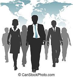 kracht, zakenlui, werken, menselijk, wereld, middelen