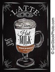 krijt, poster, latte