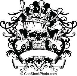 kroon, schedel