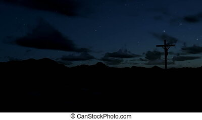 kruis, timelapse, zonopkomst, jesus