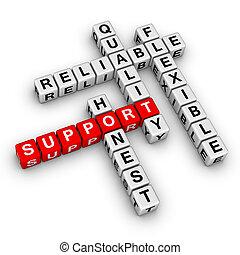 kruiswoordraadsel, steun, raadsel