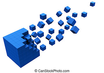 kubus, 3d, beweging