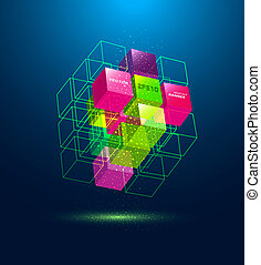 kubus, abstract