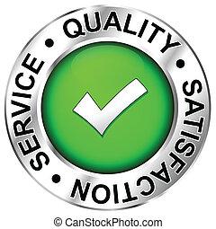 kwaliteit, bevrediging, dienst