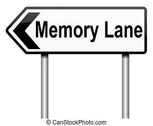 laan, concept., geheugen