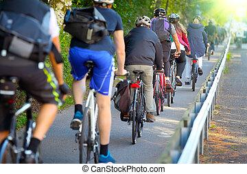 laan, fiets