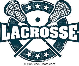 lacrosse, postzegel, sportende