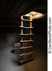 ladder, kiva