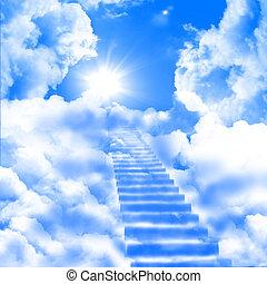ladder, op, hemelen