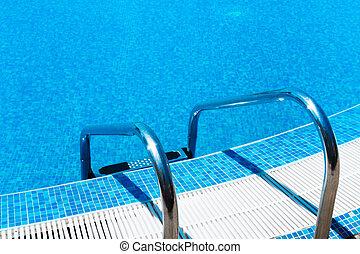 ladder, pool, zwemmen