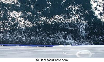 lading, verhuizing, zee, veerboot