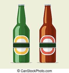 lager, bier fles, pictogram