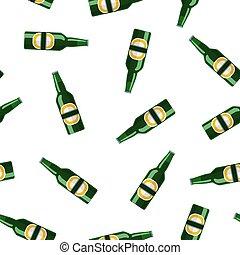 lager, bier fles