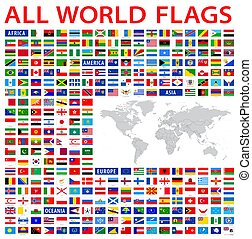land, alles, wereldvlaggen