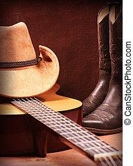 land, amerikaan, muziek, achtergrond