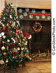 land, boompje, kerstmis