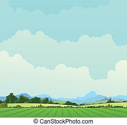land, landscape, achtergrond