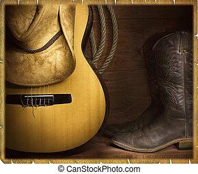 land muziek, achtergrond, cowboy