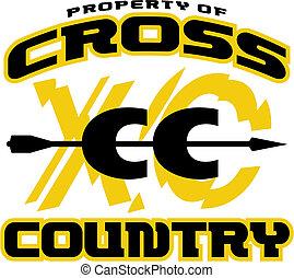 land, ontwerp, kruis
