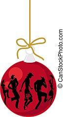 land, ornament, westelijk, kerstmis