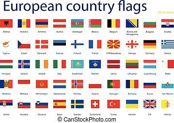 land, vlaggen, europeaan
