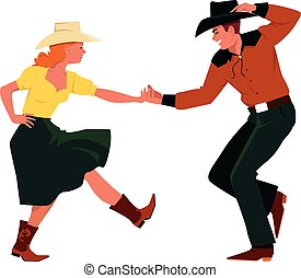land, westelijk, dancing