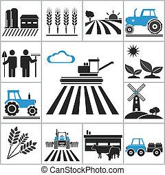 landbouw, iconen