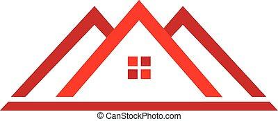landgoed, logo, woning, echte