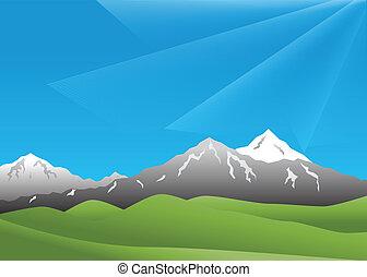 landscape, bergen
