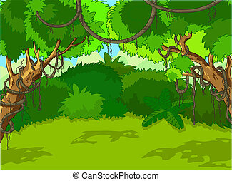 landscape, bos, tropische