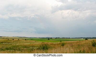 landscape, hemel, regen, timelapse