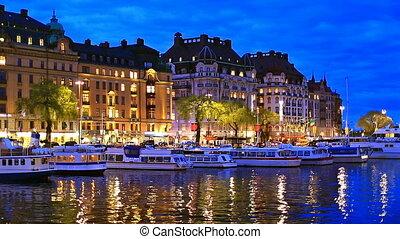 landschap, stockholm, avond, zweed