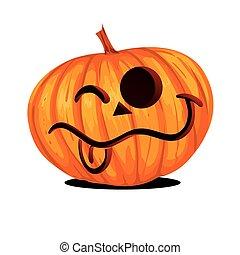 lantaarntje, halloween, dommekracht, o, pompoen