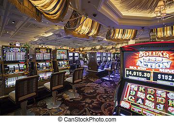 las, 2014:, casino, 16, gleuf, las vegas, binnen, usa, mei, ?, machines