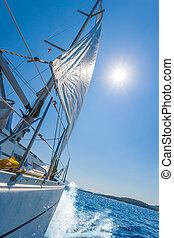 lefkada, jacht, zeilend, griekenland