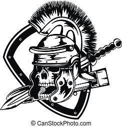 legionary, schedel, helm