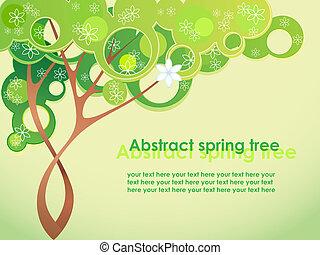 lente, abstract, bloemen, boompje