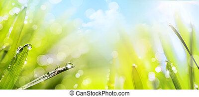 lente, abstracte kunst, achtergrond, natuur