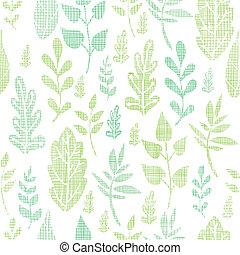 lente, bladeren, seamless, textiel, achtergrond, textured, model